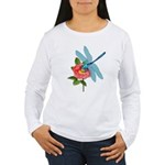 Dragonfly & Wild Rose Women's Long Sleeve T-Shirt