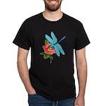 Dragonfly & Wild Rose Dark T-Shirt