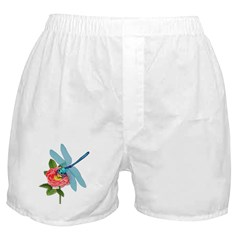 Dragonfly & Wild Rose Boxer Shorts