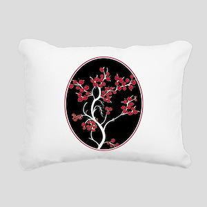 Oriental inspired blossom tree design Rectangular