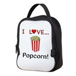 I Love Popcorn Neoprene Lunch Bag