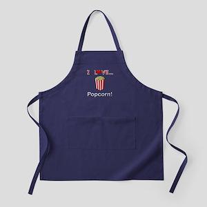 I Love Popcorn Apron (dark)