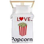 I Love Popcorn Twin Duvet