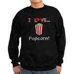 I Love Popcorn Sweatshirt (dark)