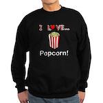I Love Popcorn Sweatshirt (dark)