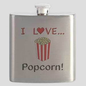 I Love Popcorn Flask