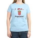 I Love Popcorn Women's Light T-Shirt
