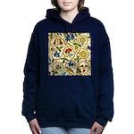 Elizabethan Swirl Embroidery Hooded Sweatshirt