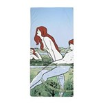 Art Nouveau: Bathing Nymphs Beach Towel