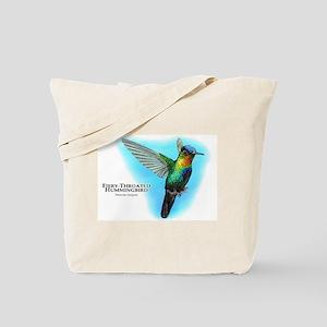 Fiery-Throated Hummingbird Tote Bag