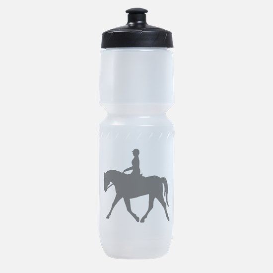 casual horse rider black.png Sports Bottle