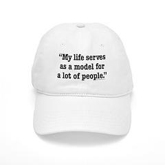 MY Life Serves as a Model Baseball Cap