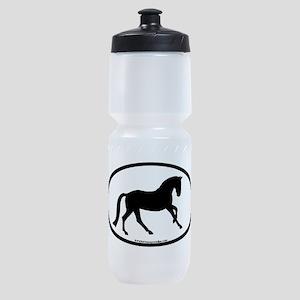 canter oval black Sports Bottle