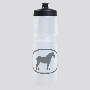 oval draft black Sports Bottle