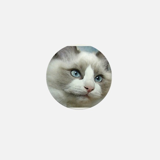 Cute Ragdoll cats Mini Button