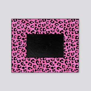 Leopard Print Spot Pattern Pink and Black Picture