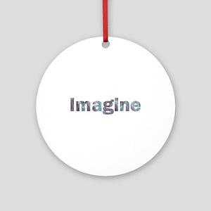 Imagine Marble Ornament (Round)