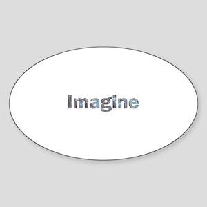 Imagine Marble Oval Sticker