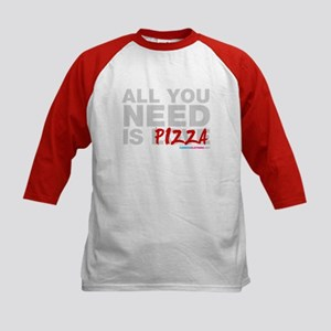 All You Need Is Pizza Kids Baseball Jersey