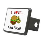 I Love Fast Food Rectangular Hitch Cover