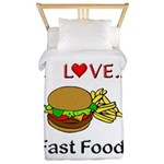 I Love Fast Food Twin Duvet