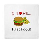 I Love Fast Food Queen Duvet