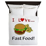 I Love Fast Food Queen Duvet