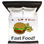 I Love Fast Food King Duvet