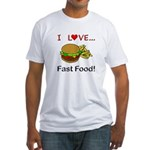 I Love Fast Food Fitted T-Shirt