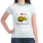 I Love Fast Food Jr. Ringer T-Shirt