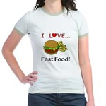 I Love Fast Food Jr. Ringer T-Shirt
