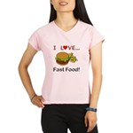 I Love Fast Food Performance Dry T-Shirt