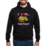 I Love Fast Food Hoodie (dark)