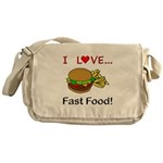 I Love Fast Food Messenger Bag