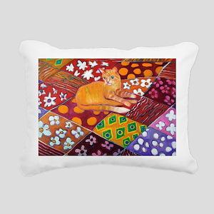 Cat on Quilt Rectangular Canvas Pillow