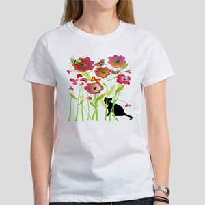 Cat and Butterflies T-Shirt