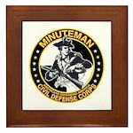 Minuteman Civil Defense Corps Framed Tile