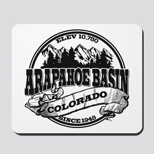 A-Basin Old Circle Black Mousepad