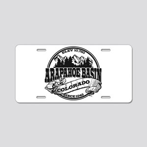 A-Basin Old Circle Black Aluminum License Plate