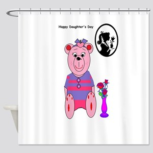 Happy Daughters day Shower Curtain