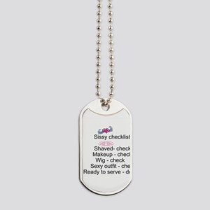 Sissy Checklist Dog Tags