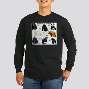 Bears of the World Long Sleeve Dark T-Shirt