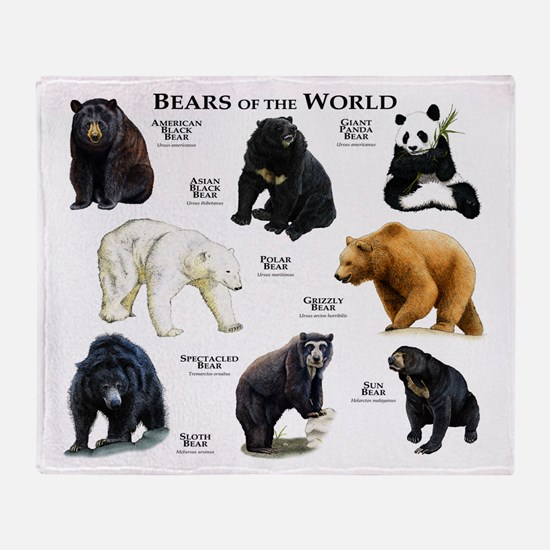 Bears of the World Throw Blanket