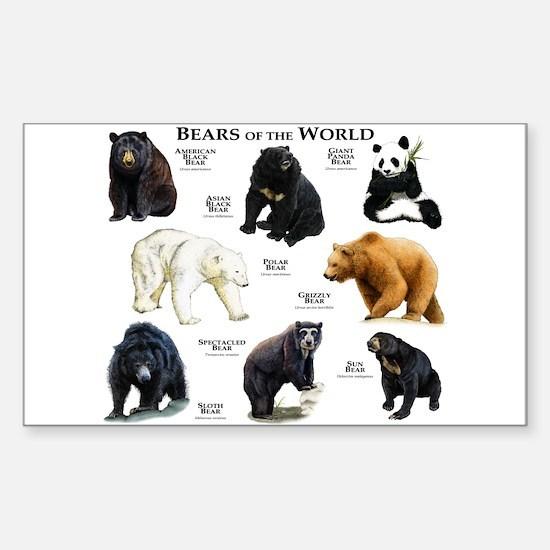 Bears of the World Sticker (Rectangle)
