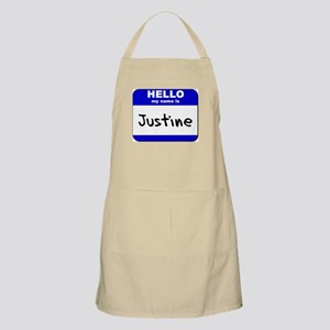 hello my name is justine  BBQ Apron