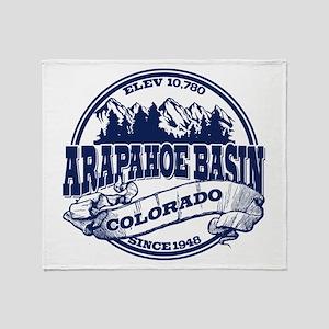 A-Basin Old Circle Blue Throw Blanket