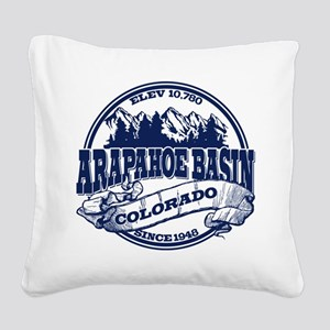 A-Basin Old Circle Blue Square Canvas Pillow