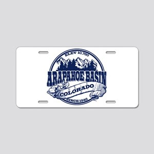A-Basin Old Circle Blue Aluminum License Plate