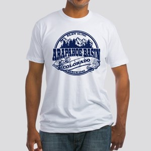 A-Basin Old Circle Blue Fitted T-Shirt