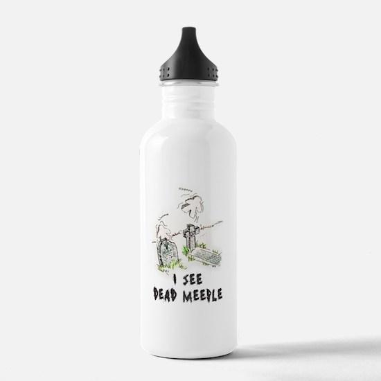 I See Dead Meeple Sports Water Bottle